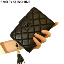 SMILEY SUNSHINE fashion designer women wallets famous brand genuine leather wallets female luxury small wallets purse portomonee(China)