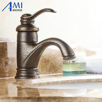 "6"" Roman Bronze Faucets Bathroom Brass Faucet Sink Basin Mixer Tap 9025T"