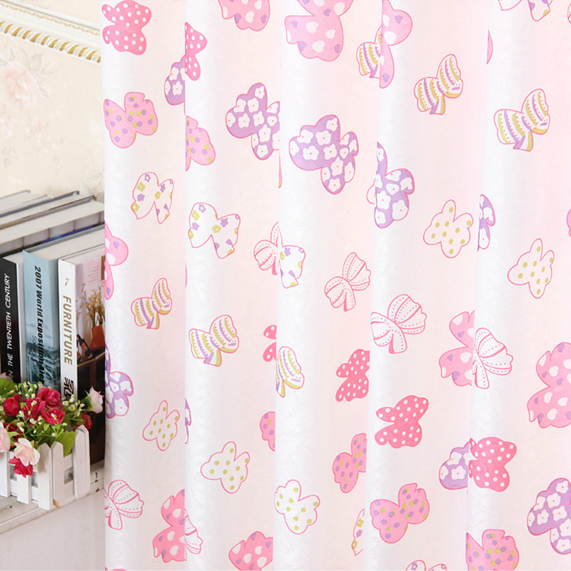 Curtains for Living Room Cretonne Recommended New Flower  Bedroom Korean Garden Marriage Room In Cartoon bowknot Small Girl