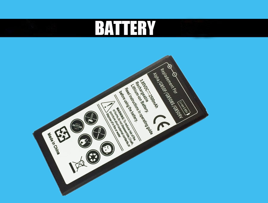 1PC Replacement Battery 2500mah For Samsung Galaxy Alpha G850F High Quality