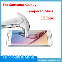 MXHOBIC 10pcs/lot   Ultra Thin Tempered Glass for Samsung Galaxy S6 S5 S4 Note3 J5 A5 G530 Arc Anti Finger Screen Protect Film