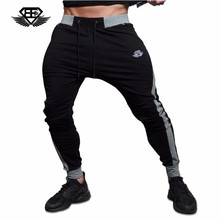 2017 New Body Engineers Men Long pants Cotton Men's gasp workout fitness Pants casual sweatpants jogger pants skinny trousers(China)