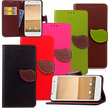 Leaf Case for HTC One A9 A 9 HTC Aero 4G LTE Flip Case Wallet Phone Leather Cover for HTC A9w 9w(China)