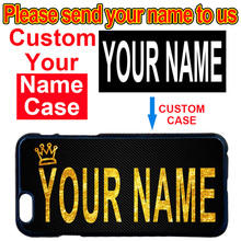 Custom DIY Your Name Case Cover for LG G2 G3 G4 G5 G6 iPhone 4 4S 5 5S SE 5C 6 6S 7 8 Plus X iPod Touch 5(China)