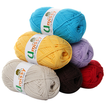 10pcs Combed Thick Yarn Knitting Baby Sweater Doll 8 Count 100% Organic Cotton Yarn for Knitting 50g(China)