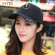 Fashion K POP Iron Ring Hats Adjustable Baseball Cap 100% Hand Made Hiphop Cap Women Solid Color Adjustable Peaked Cap Hats(China)