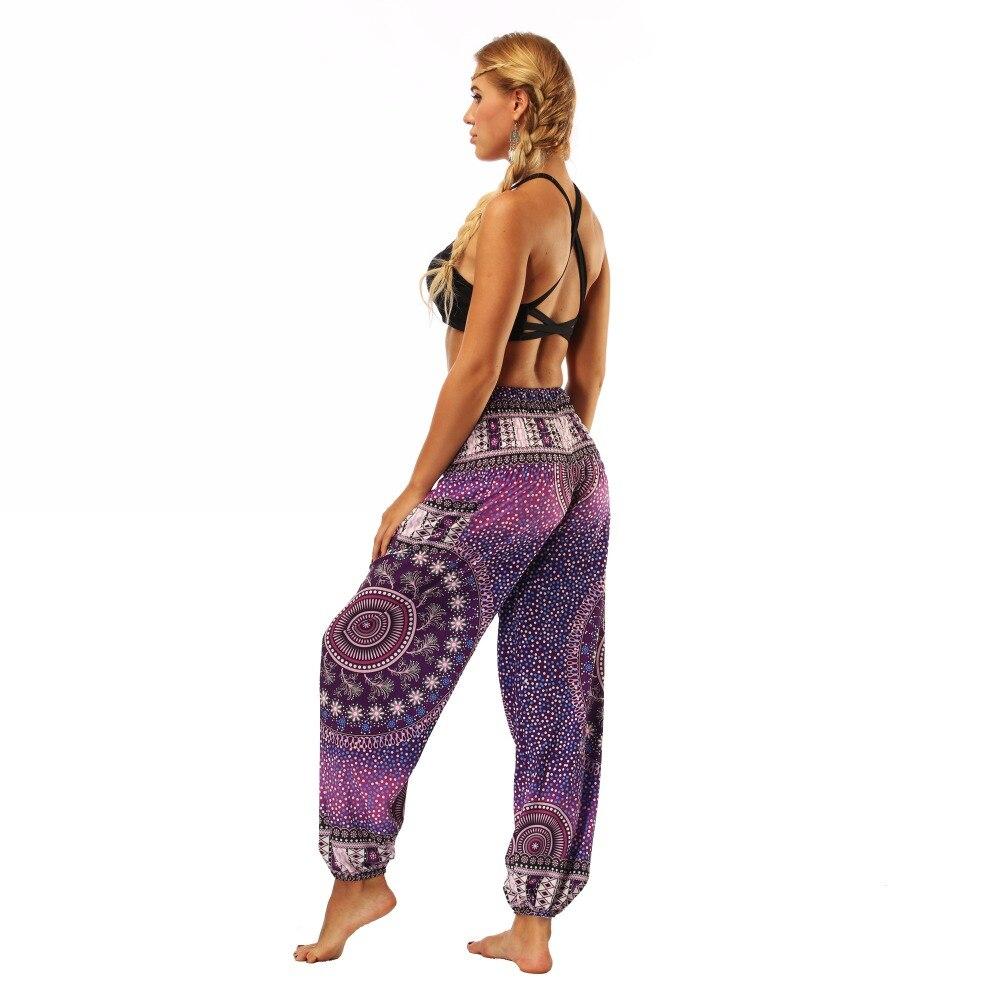 TL005- Purple galaxy floral wide leg loose yoga pant leggings (6)