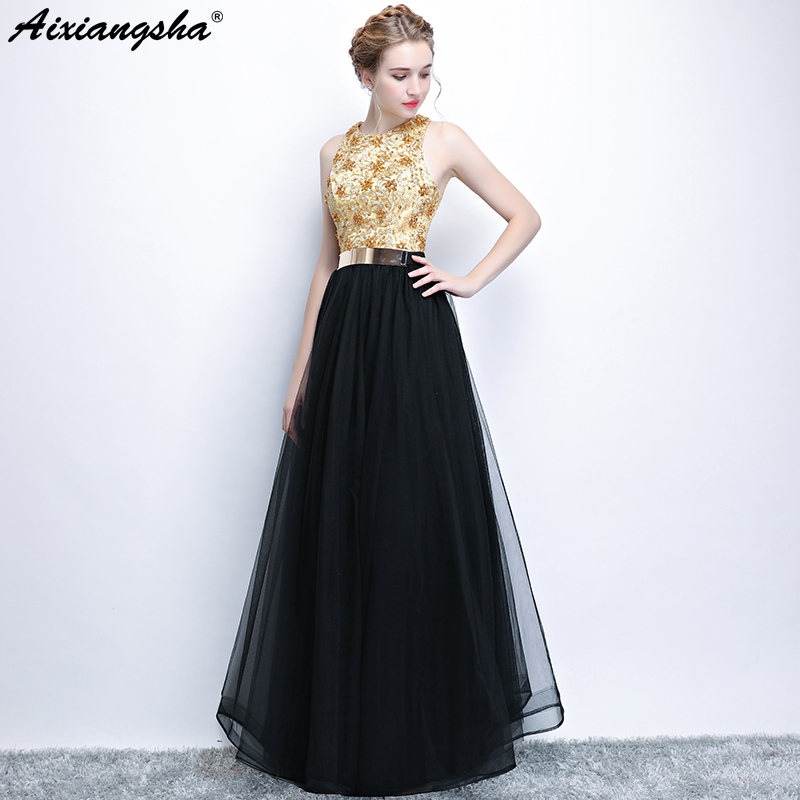 Black Long Prom Dresses 2018 Beading Floor-Length Sleeveless Lacec Up Back Vestido De Festa Gala Jurken Vestido Largos Plus Size
