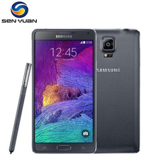 Note 4 Original unlocked Samsung Galaxy Note 4 N910A N910F N910P LTE Cell Phone 5.7 inch 16MP 3GB 32GB Mobile Phone(China)