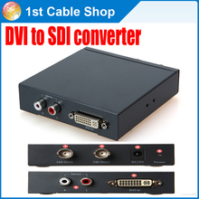 L/R DVI Audio to SDI converter Splitter 1 port DVI input to  2 port SDI output with power adapter
