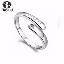 New Fashion Cubic Zirconia Forever Silver color Letter Fingers Ring Opening Jewelry for Women Top Quality 2017 Hot