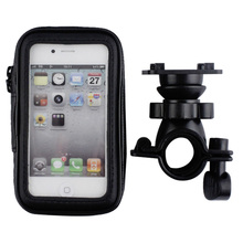 Motorcycle Bicycle Phone Holder For iPhone 7 6 6s Plus Xiaomi Huawei Support Mobile Phone Stand With Waterproof Case Bag Shell