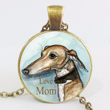 Fashion Steampunk European Style LOVE Mom  Long  Choke Chain Retro  Art Photo Dog  Jewelry For Women LY789