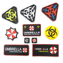PVC Resident Evil Umbrella Corporation Logo Uniform Costume Badge STICK-ON Patch DIY Embroidered Patch for Apparel Accessory
