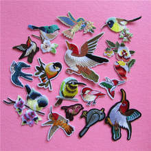hot fashion bird patterned patches stripes hot melt adhesive applique delicacy embroidery DIY clothing accessory C2195-C5340
