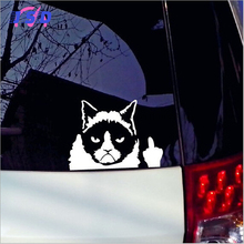Car Accessories Funny Cat Waterproof Stickers Motorcycle Decals Modification For Toyota Mitsubishi Mazda Audi Buick KIA Dodge(China)