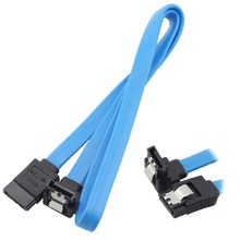 Iii-Cable ATA Serial Sata-3.0 90-Degree with Lock-Latch for Hard-Drives HDD SSD Blue