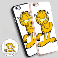 Garfield Cat Soft TPU Silicone Phone Case Cover for iPhone 4 4S 5C 5 SE 5S 6 6S 7 Plus