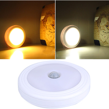 PIR Motion Sensor Magnetic LED Infrared Wall Lamp Night Light Auto On/Off Indoor/Outdoor Passageway Stairway Wall