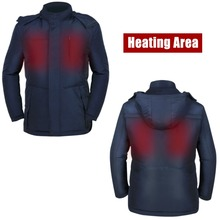 Cold Weather Rechargeable Heated Down Vest with Navy blue And olive green Two Color Detachable Hood For Women
