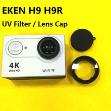 Original EKEN H9 H9R Anti Scratch Lens Glass UV Filter Lens Cap Silicone Protection Cover For EKEN Action Camera Accessories