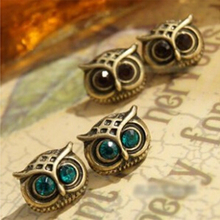 Latest Fashion Exquisite Complex Cute Big Eyes Owl Earrings Jewelry Factory Direct(China)