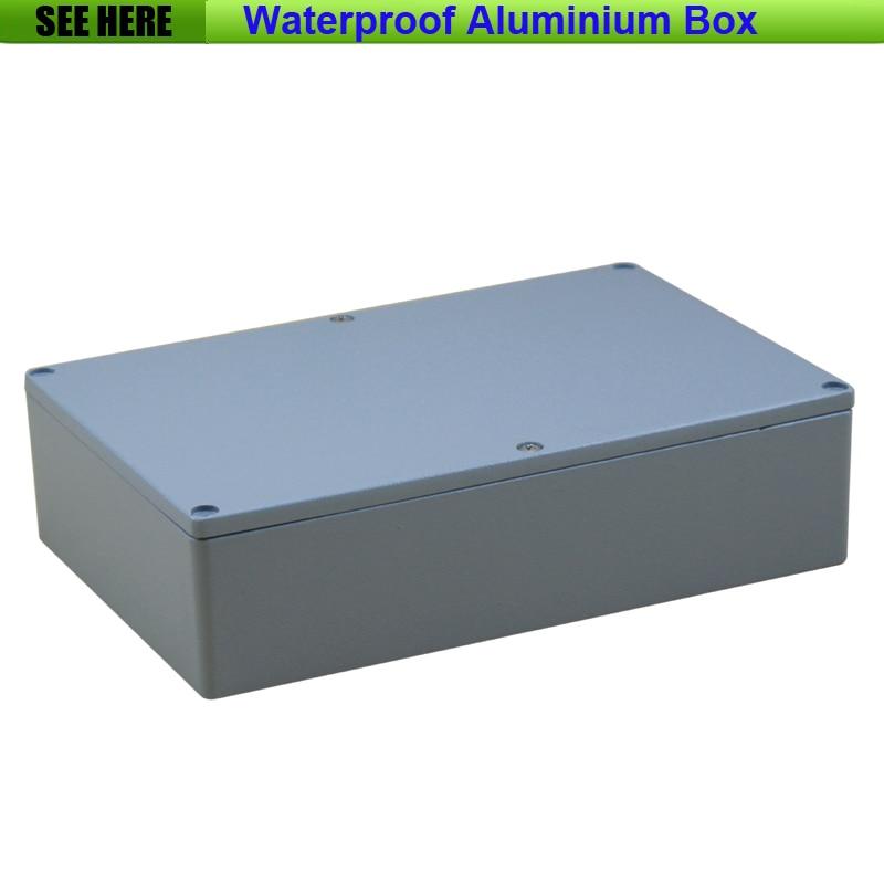 Free Shipping  1piece /lot Top Quality 100% Aluminium Material Waterproof IP67 Standard die cast aluminium box222*145*55mm<br>