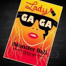Lady Gaga The Monster Ball Music Class Propaganda Vintage Kraft Decorative Poster DIY Wall Sticker Delicate Home Bar Decor Gift