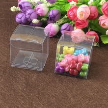 50pcs 7*7*7cm clear plastic pvc box packing boxes for gifts/chocolate/candy/cosmetic/crafts square transparent pvc Box