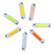 Seven colors 1W COB LED chip Module  DC12VUlter bright Waterproof SMD COB Module for Sign Advertising backlight White Warm white