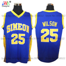 Dwayne Mens #25 Ben Wilson Simeon High School Cheap Throwback Basketball Jersey Retro Jerseys Vintage Basket Embroidery Shirt(China)