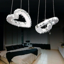 Children toy modern LED love heart pendant lamp and soul of the creative personality of the dining room crystal pendant lights(China)