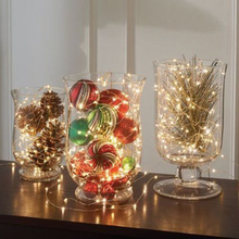 LED String Lights Battery Powered String Light 5m 50 LEDs copper Silver Wire Lights for Trees Wedding Parties Jar Bedroom(China)