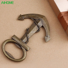 Creative Wedding Birthday Vintage Aeneous Anchor Shaped Bottle Opener Beer Opener Abridor De Garrafa Abridor Unique Gift(China)
