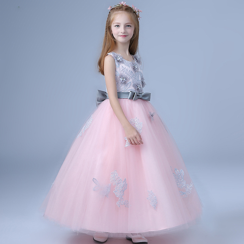 2018-New-Children-s-dress-princess-dresses-for-girls-teenagers-wedding-party-piano-clothing-long-flowers (3)