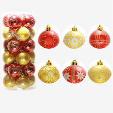 24PC Christmas Tree Xmas Balls Decorations Baubles Party Wedding Ornament 6cm 2018 Merry Christmas Tree Hanging Ornament Balls(China)