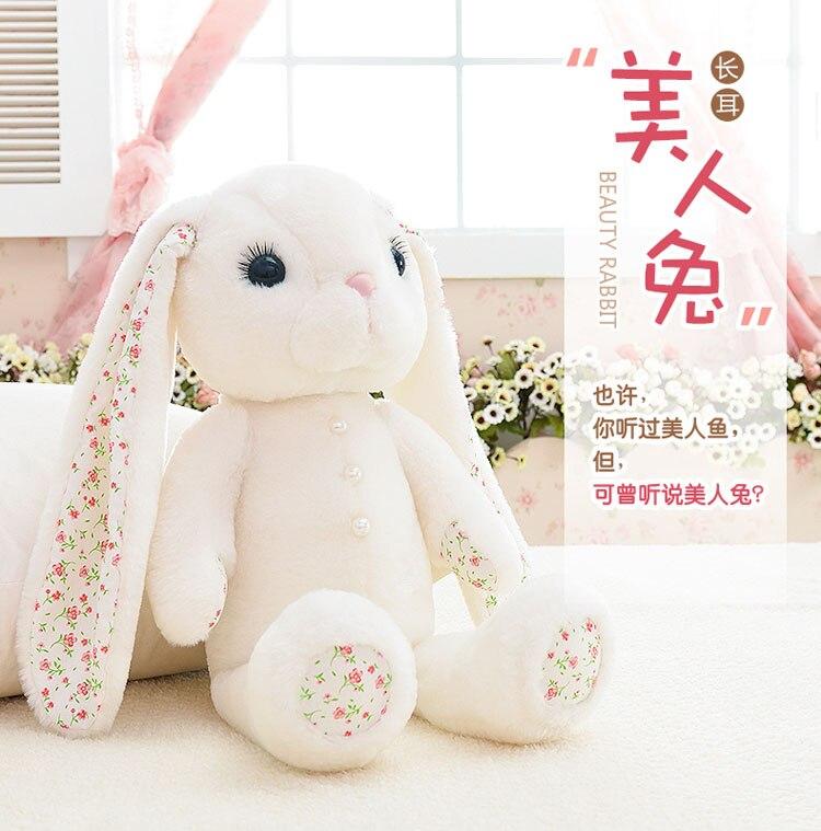 Long ear white beauty rabbit bunny plush toy doll cute adorable pet<br><br>Aliexpress
