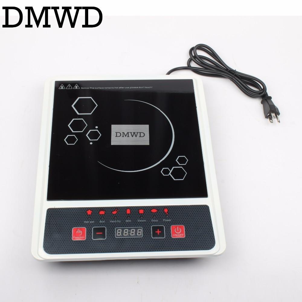 DMWD Electric induction cooker Waterproof high power button magnetic induction cooker intelligent hot pot stove 110V 220V EU US<br>