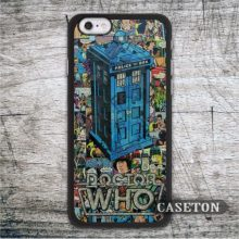 Retro Comic Doctor Who Tardis Case For iPhone 7 6 6s Plus 5 5s SE 5c and For iPod 5 High Quality Funny Cases