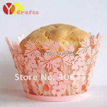 cake decoration laser cut wedding cupcake wrappers pink table grape special design paper cupcake wrappers