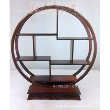 Redwood crafts Rosewood small round Shelf antique frame / tea shelf gifts Home Decoration