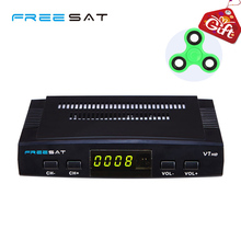 Cheap Dvb-S2 Receiver HD Digital Satellite Receivers Decoder Freesat V7 HD Support PowerVu Biss Key Cccam Cline Youpron USB WIFI(China)