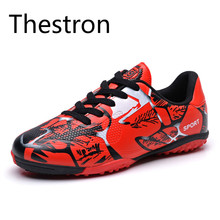 Cheap Turf Soccer Shoes for Children Men Women 2017 New Leather Football Boots Sneakers Footwear Cushioning Skid-Resistance Shoe