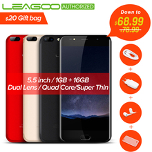 LEAGOO M7 3G Moblie Phone 5.5 inch 3000mAh 1GB RAM 16GB ROM MT6580A Quad Core Android 7.0 Dual Back Camera Arc Screen Cellphone(China)