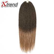 Xtrend 22'' 30roots Senegalese Twist Hair Crochet Braid Extensions Ombre Kanekalon Jumbo Synthetic Hair For Braiding 13Colors