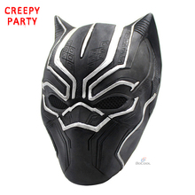 Black Panther Masks Movie Roles Cosplay Costume Adults Halloween Mask Realistic Men's Latex Party Mask(China)