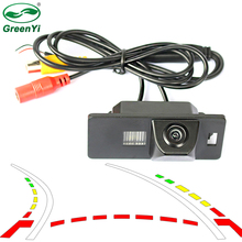 Intelligent Dynamic Trajectory Tracks Rear View Reversing Backup Camera For Audi A1 A4 A5 S5 Q5 TT VW Passat R36(China)