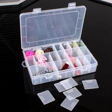 5 colors Practical Adjustable Plastic 24 Compartments Ornaments Jewelry Storage Box Case Bead Rings Jewelry Display Organizer(China)