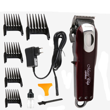 Professional Kemei Titanium Blade Corded Electric Haircut Cutting Machine Barber + limit comb for kids adult men 110-240V 001(China)
