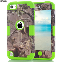 Camouflage Protective Case for iPod Touch 5 6 5th 6th Gen Durable Silicone Bumper Hard Polycarbonate Scratch Resistant Cover